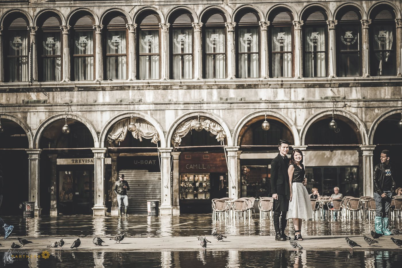 A photo in Piazza San Marco after the water overflow.