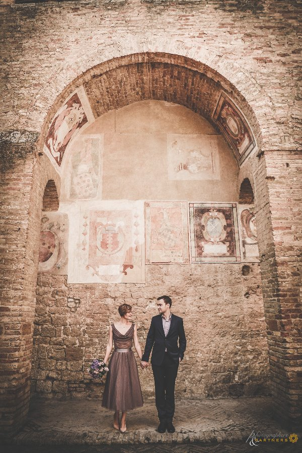 🌸 The two of us in San Gimignano 🌸