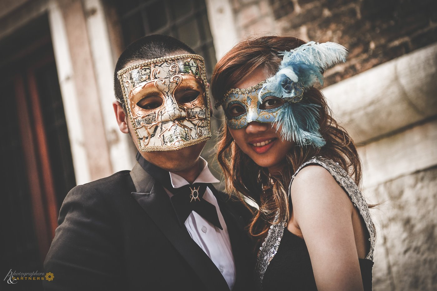 Ray & Irene with the famous Venetian Carnival masks.