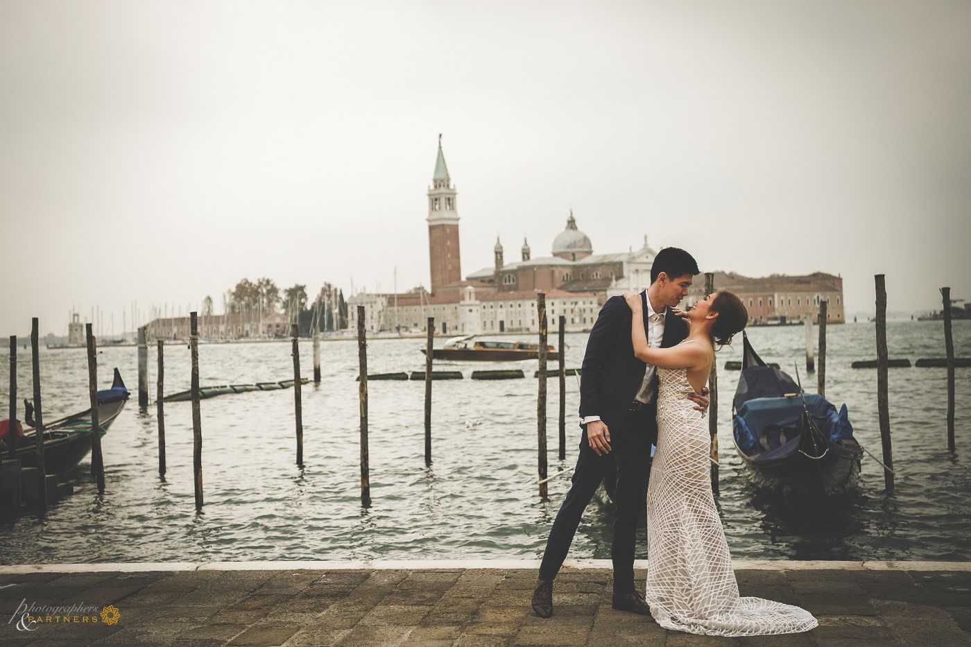 A shot near the pier with the famous church of San Giorgio Maggiore as a backdrop