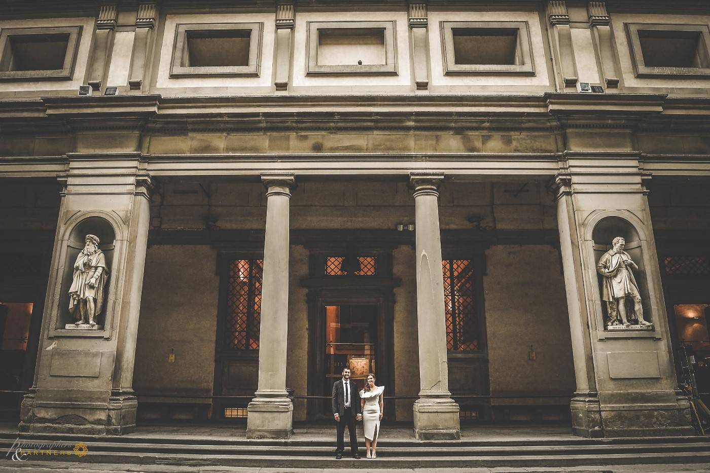 A photo at the Uffizi