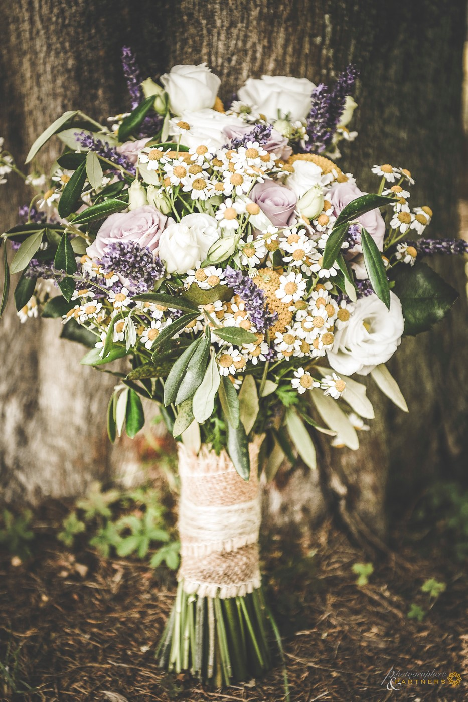 Bouquet of the bride in a country style.
