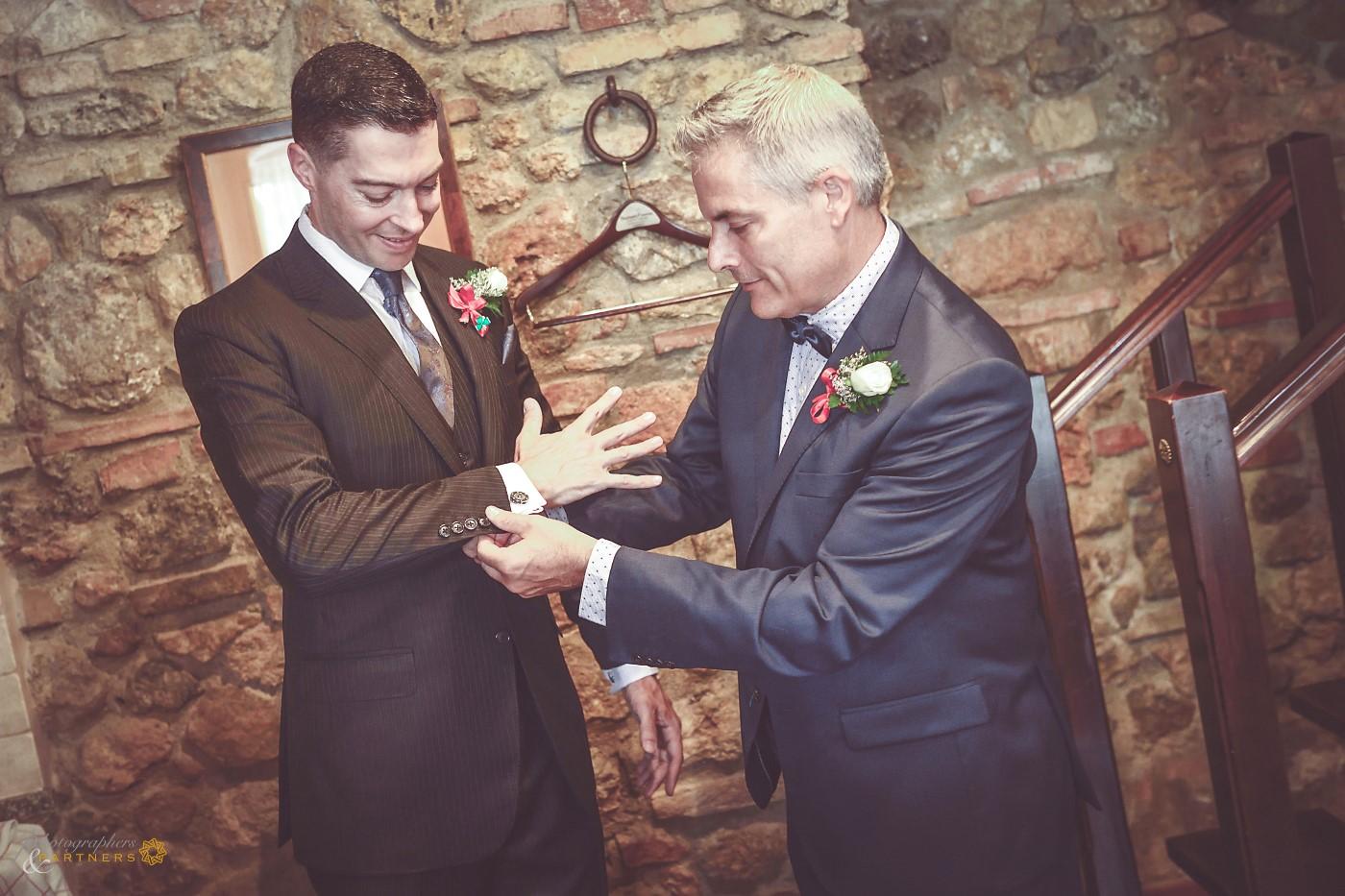 The groom's preparations.