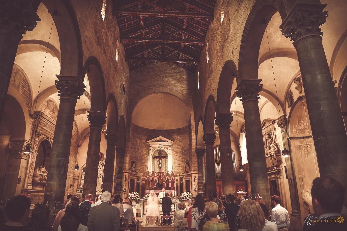 A panoramic photo inside the beautiful church.
