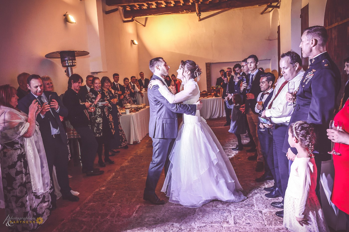 The first dance during the aperitif