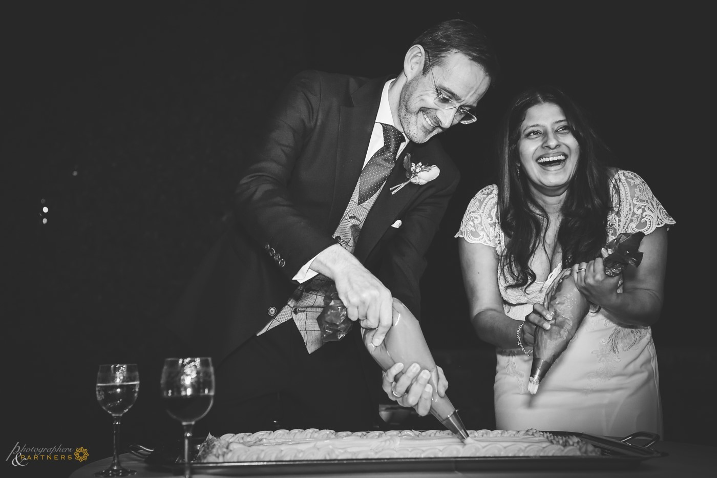 Groom and Bride at work 🍰