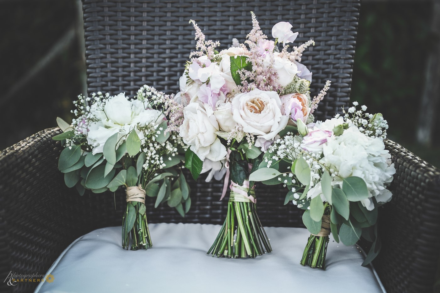 The wedding flowers.