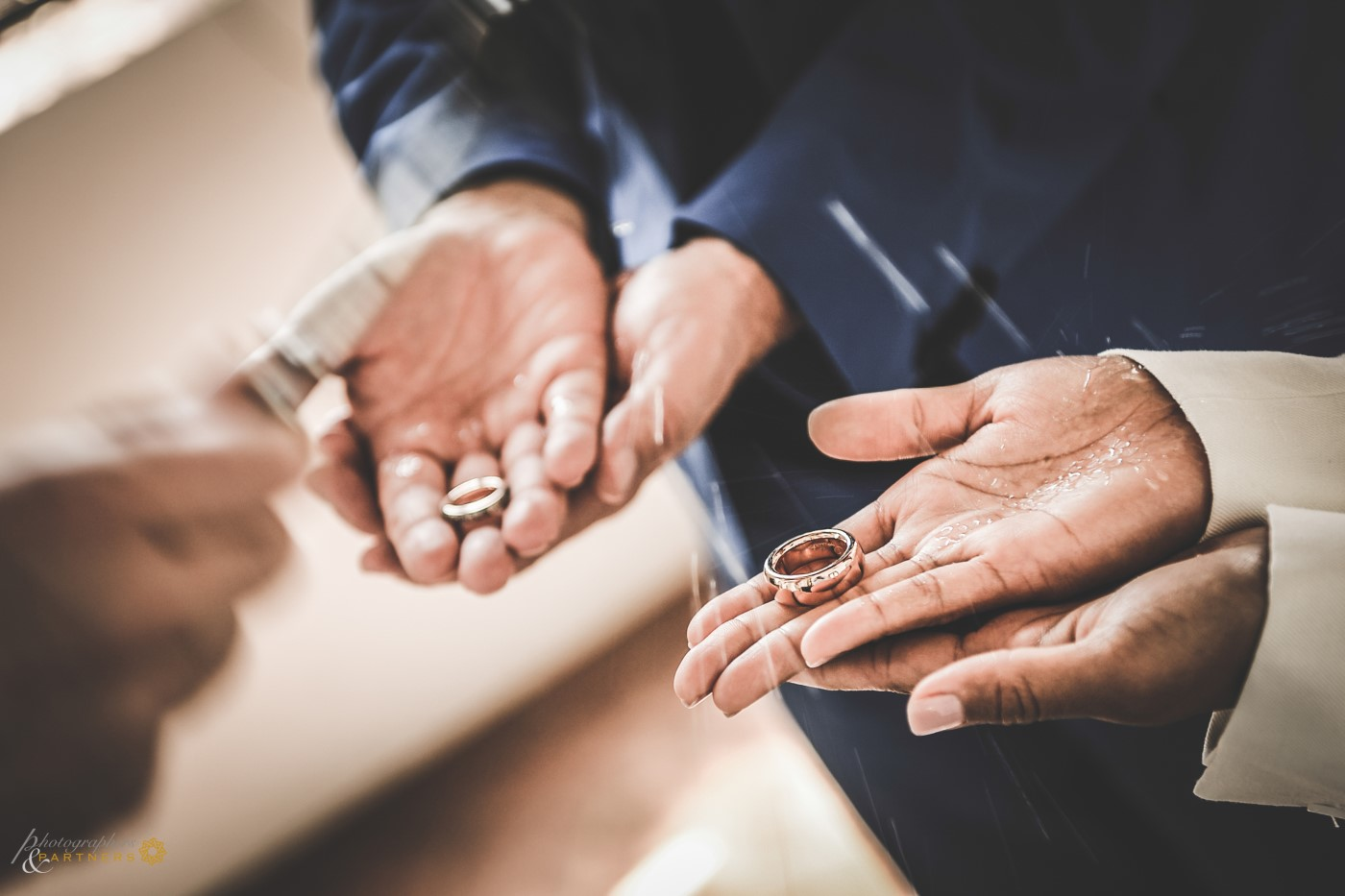 Blessing of the wedding rings.
