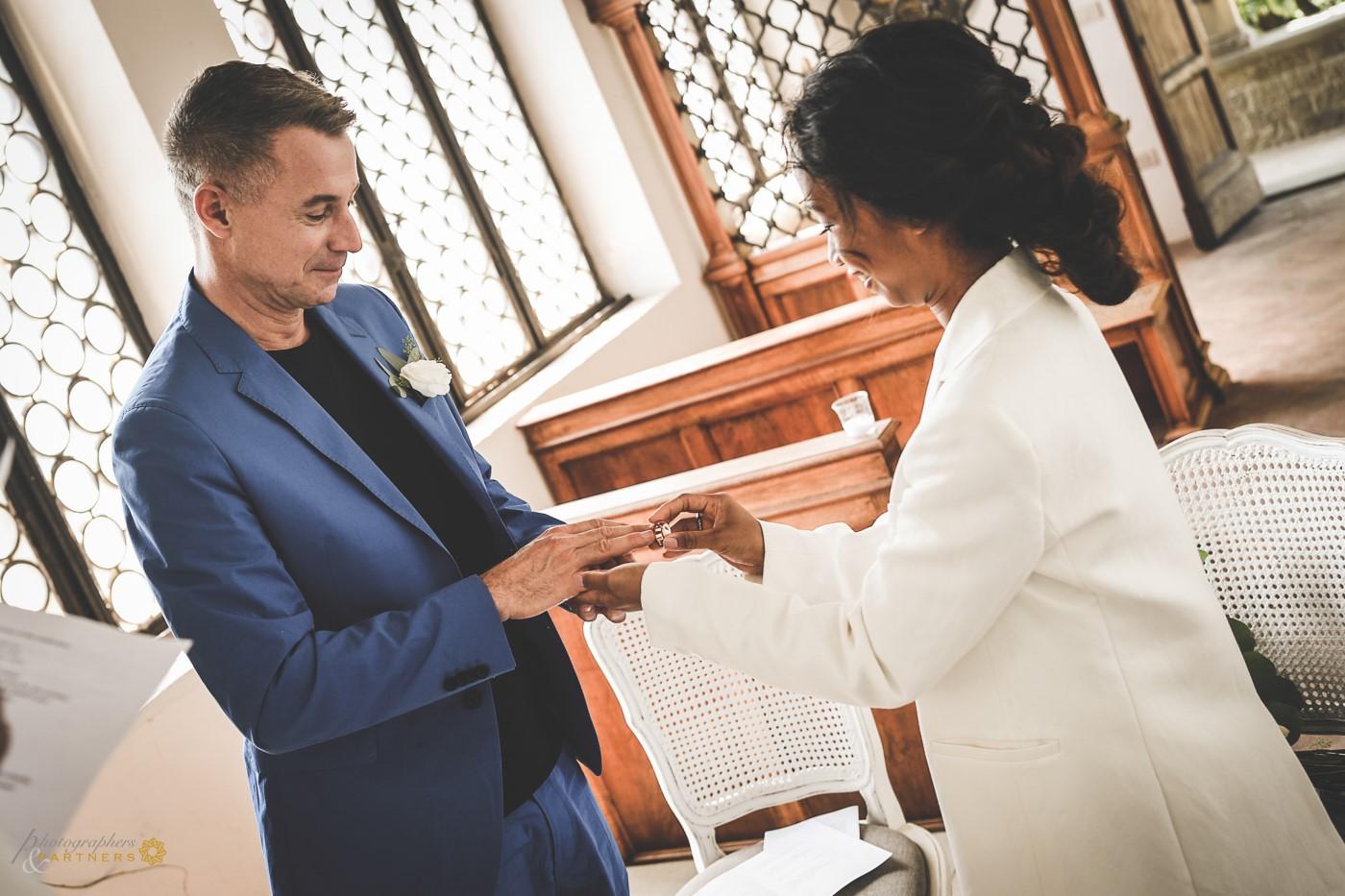 Bride's ring.