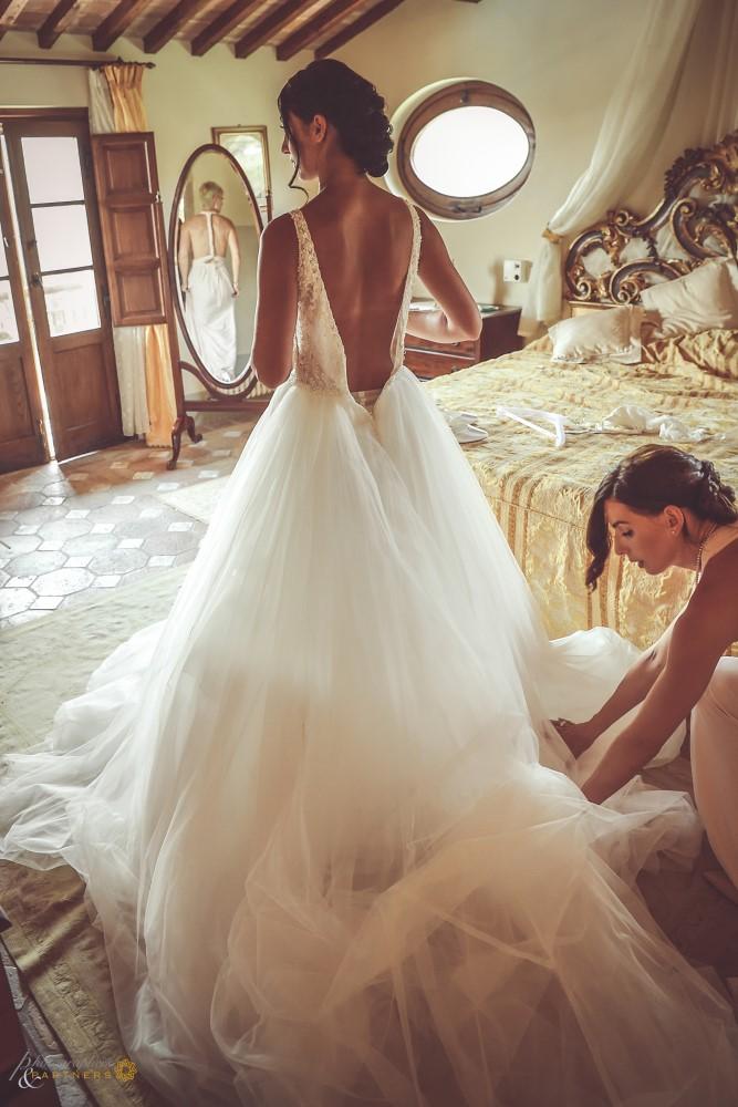 Bride's preparations.