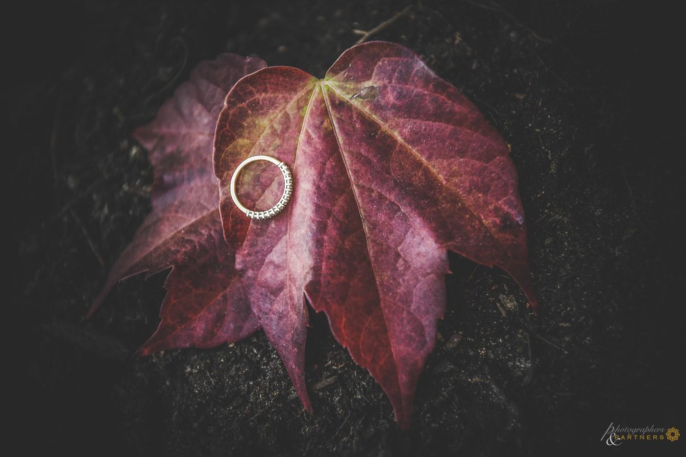 Bride's wedding ring.