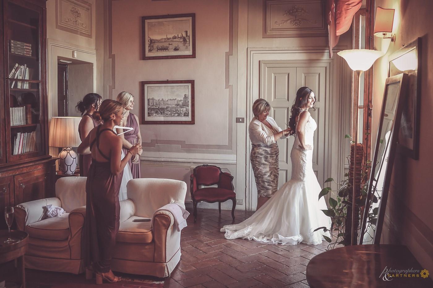 Bride preparations...