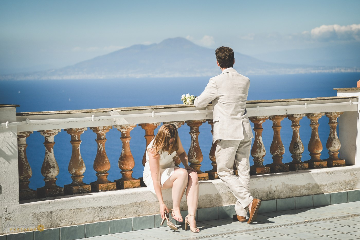 A look at the Vesuvio volcano and the Sorrento peninsula.