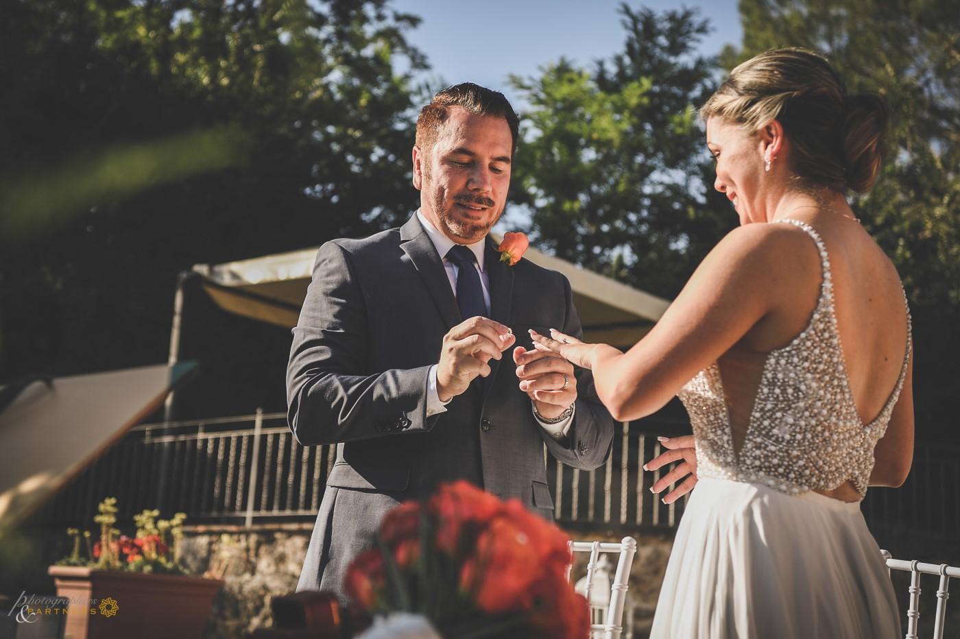The groom's wedding ring.