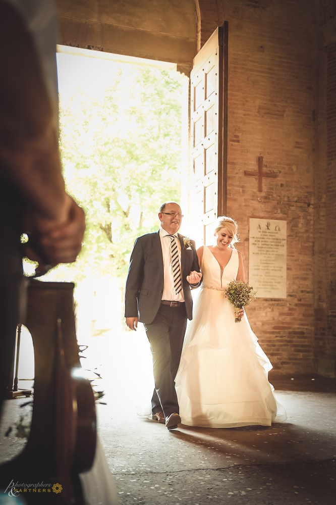 The bride's entrance to the Church.